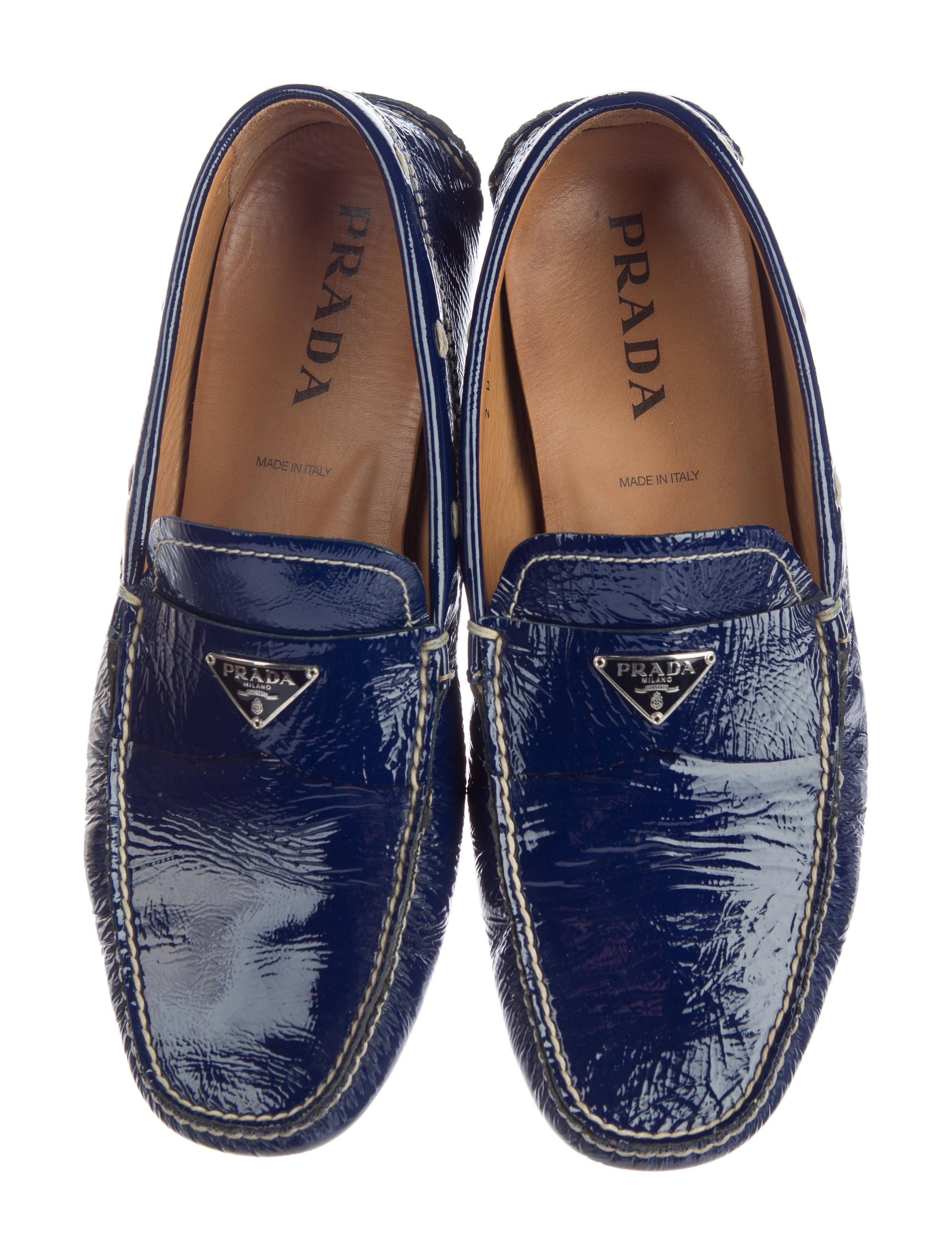 prada patent leather loafers shoes pra119157 the