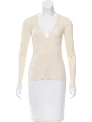 Prada Knit Button-Up Cardigan None