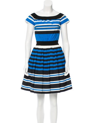 Prada Striped A-Line Dress None