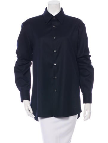 Prada Virgin Wool Oversize Top None