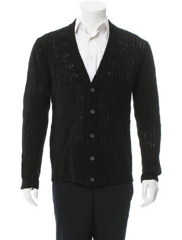 Prada Open Knit Wool Cardigan None