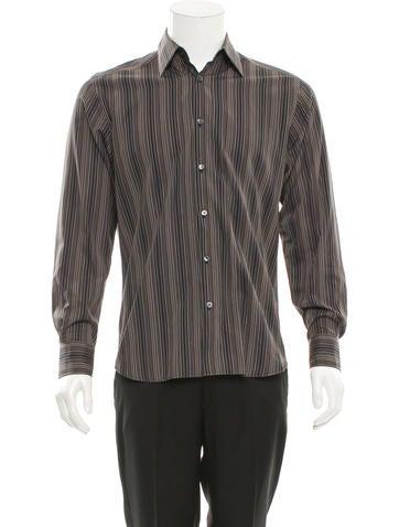 Prada Striped Button-Up Shirt None