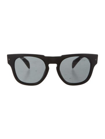 Prada Logo-Embellished Oversize Sunglasses None