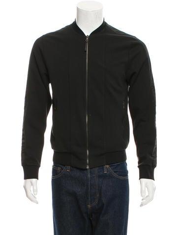 Prada Rib Knit-Trimmed Zip-Up Jacket None