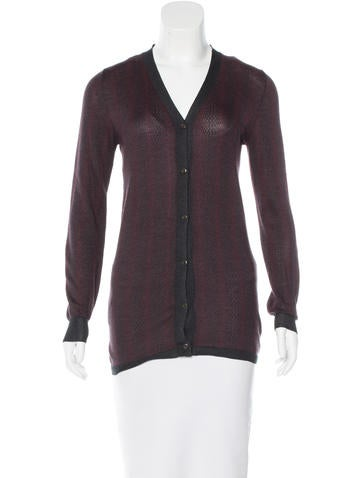Prada Silk Patterned Cardigan None