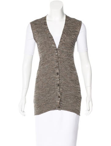 Prada Rib Knit Sweater Vest None