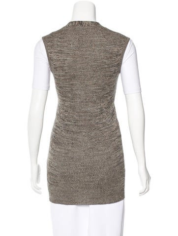 Rib Knit Sweater Vest