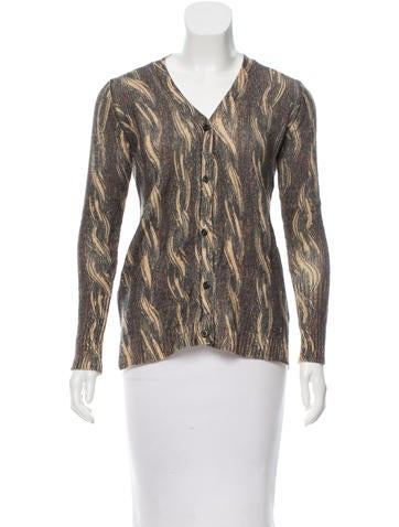 Prada Wool Printed Cardigan None