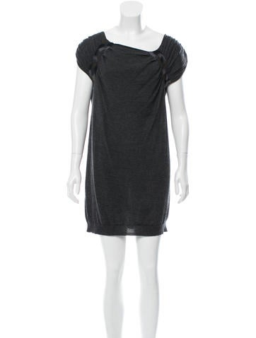 Prada Ruched Sweater Dress None