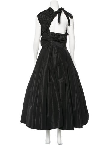 Prada Hourglass Maxi Dress Clothing Pra120424 The Realreal