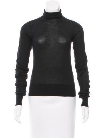 Prada Turtleneck Long Sleeve Sweater None