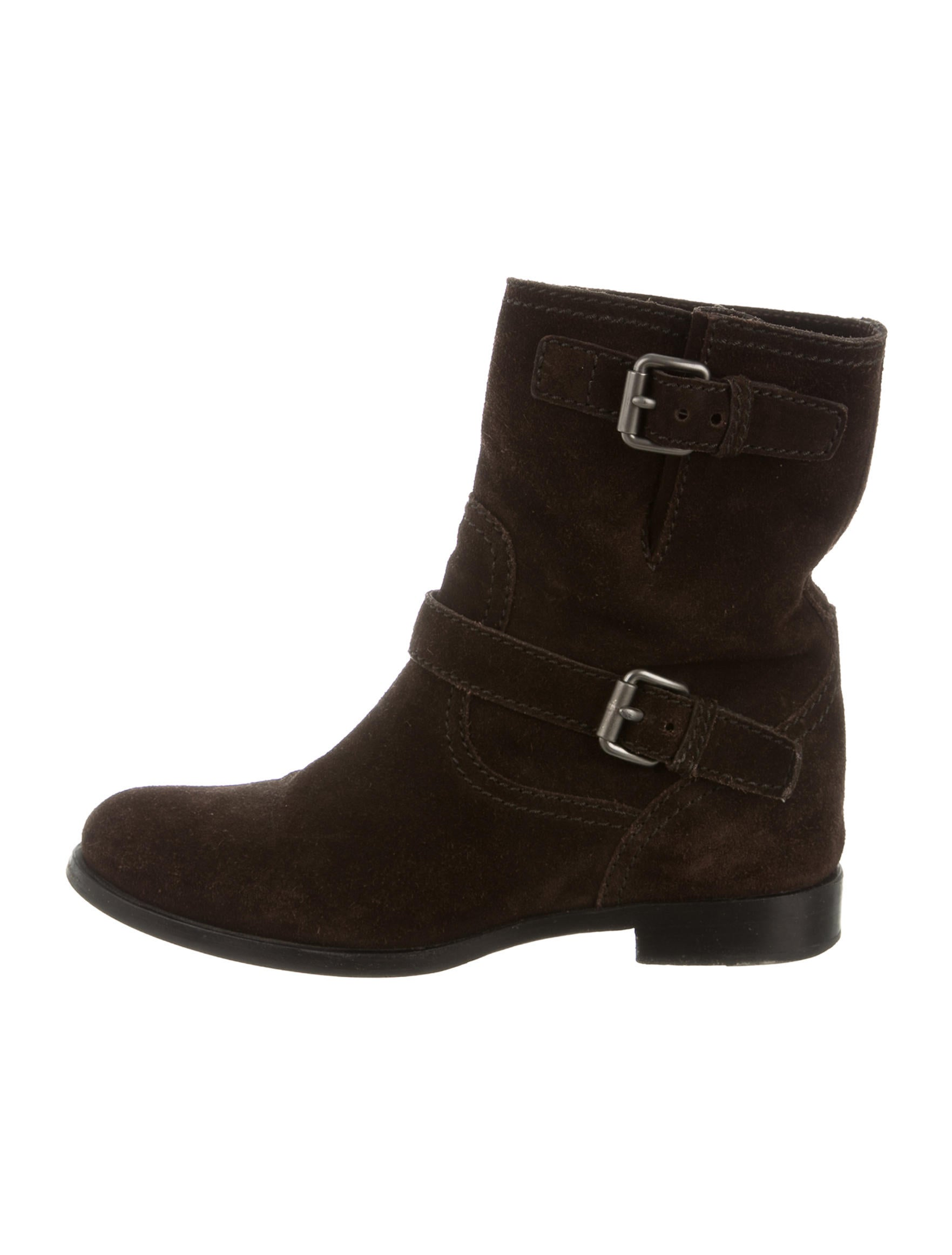 prada suede moto ankle boots shoes pra120542 the