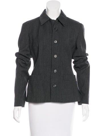 Prada Wool Pinstripe Blazer