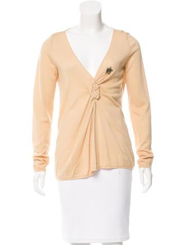 Prada Wool Pleated Sweater None