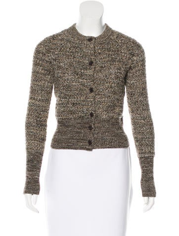 Prada Wool & Cashmere-Blend Long Sleeve Cardigan None