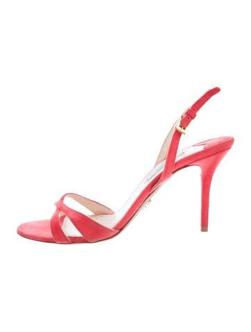 Prada Crossover Suede Sandals