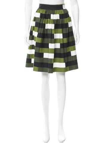 Prada Printed Knee-Length Skirt None