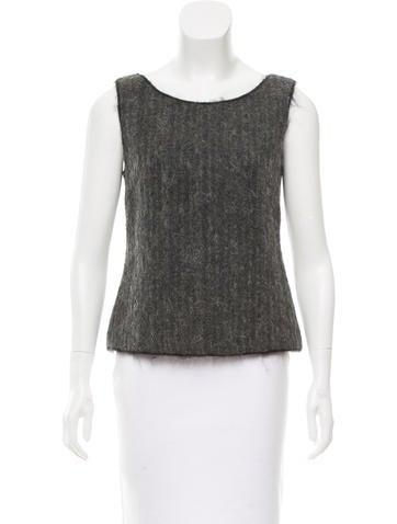 Prada Wool Sleeveless Top None