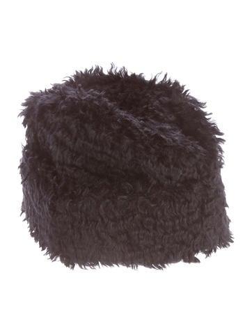 Prada Mohair Textured Hat None