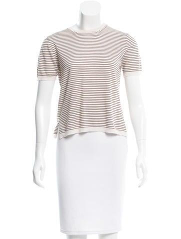 Prada Striped Wool Top None