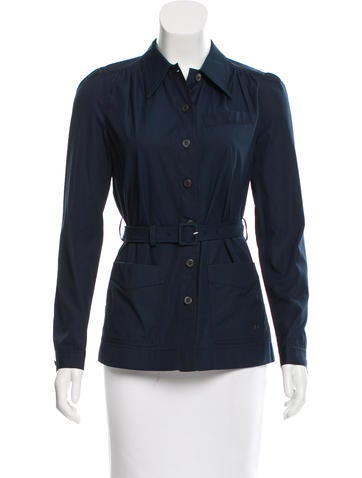 Prada Belted Button-Up Top None