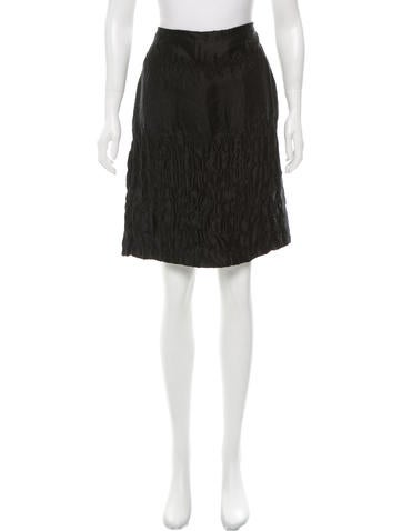 Prada Textured Knee-Length Skirt w/ Tags
