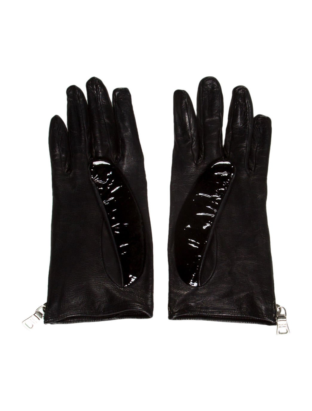 Black patent leather gloves - Patent Leather Gloves