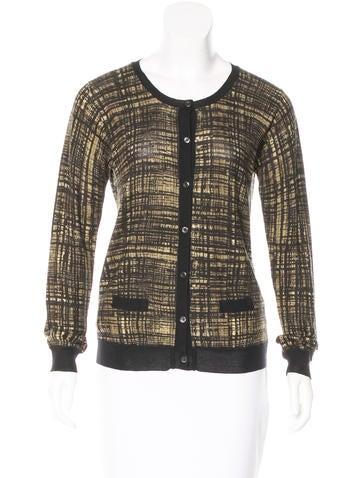 Prada Printed Wool & Silk Cardigan None