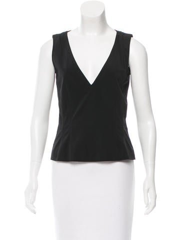 Prada V-Neck Sleeveless Top None