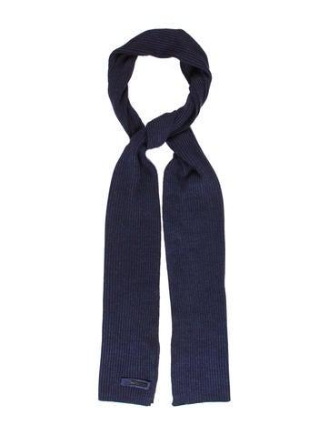 Prada Rib Knit Scarf None