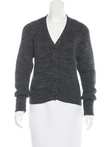 Prada Wool Rib Knit Cardigan None