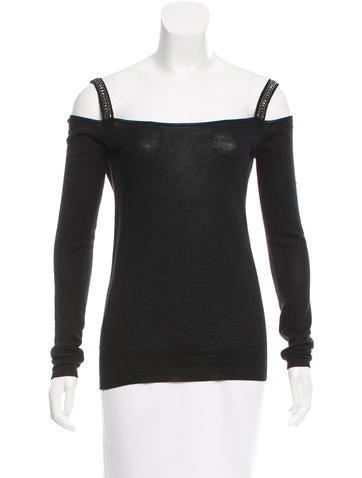 Prada Embellished Knit Top None