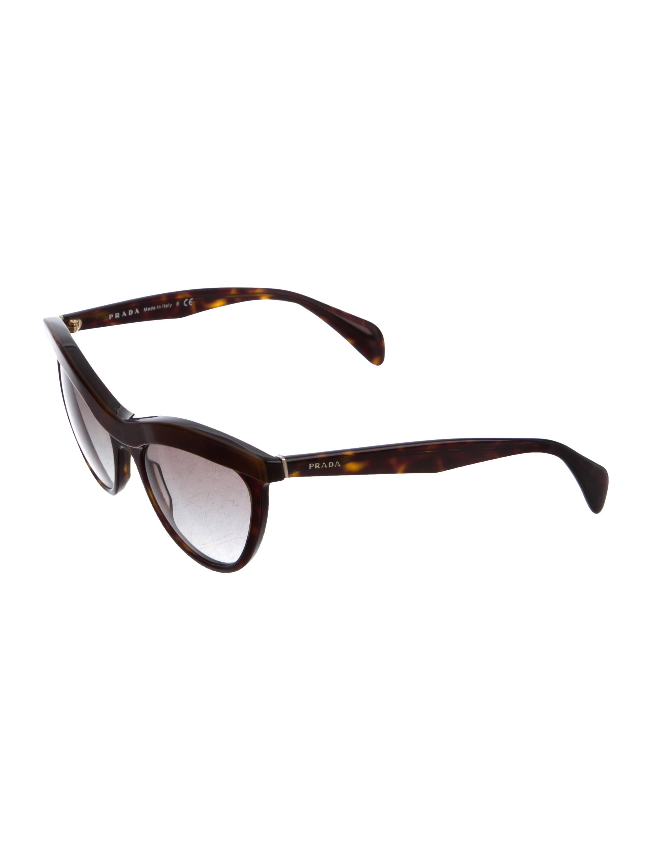 cd4636d269 Prada Tortoise Shell Sunglasses Cat Eye