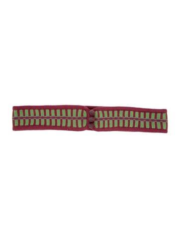 Prada Bicolor Rib Knit Waist Belt w/ Tags None
