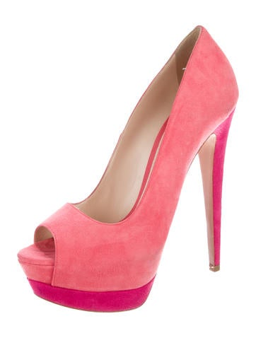 Colorblock Platform Pumps