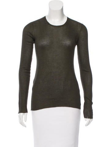 Prada Cashmere Semi-Sheer Top None