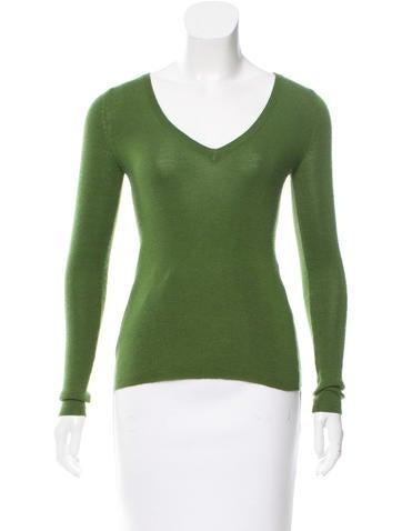 Prada Rib Knit Crew Neck Sweater None