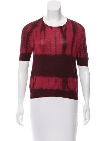 Prada Wool Tie-Dye Top None