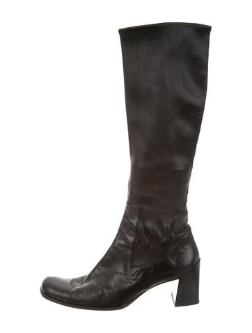 Prada Leather Knee Boots None