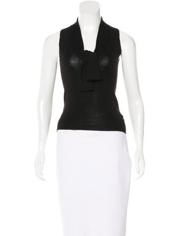 Prada Cashmere & Silk-Blend Sleeveless Top None