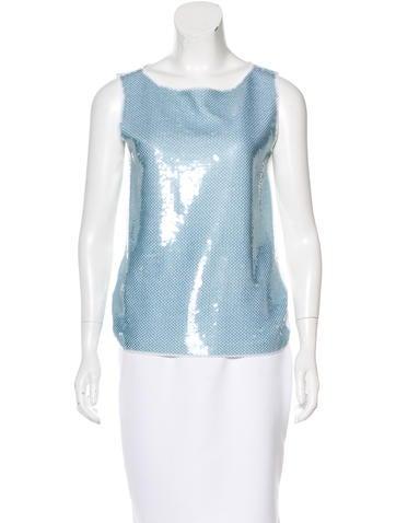 Prada Embellished Sleeveless Top w/ Tags None