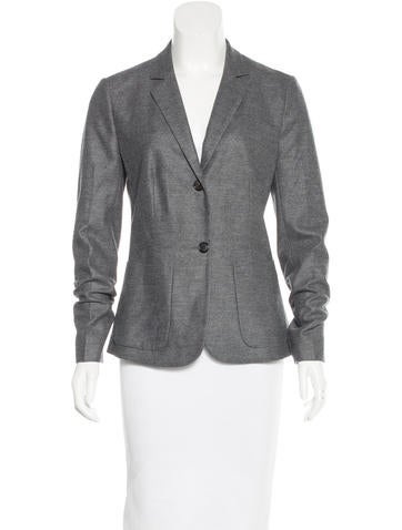 Prada Wool Notch-Lapel Blazer None