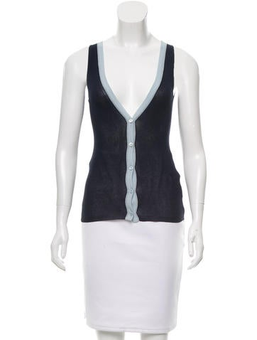 Prada Silk-Blend Sleeveless Top None