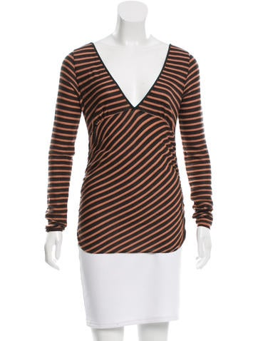 Prada Striped Virgin Wool Sweater None