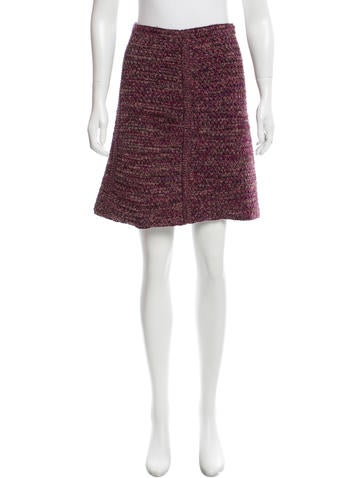 Prada Knit Wool Skirt None