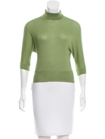 Prada Cashmere Turtleneck Top None
