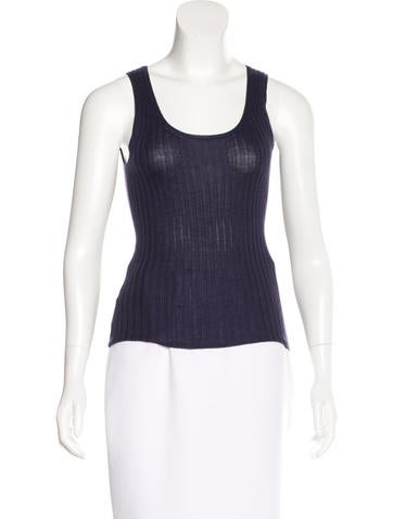 Prada Cashmere & Silk Blend Sleeveless Top None