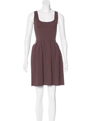Prada Pleated Knit Dress None