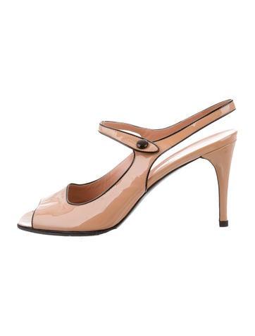 Prada Patent Slingback Sandals None