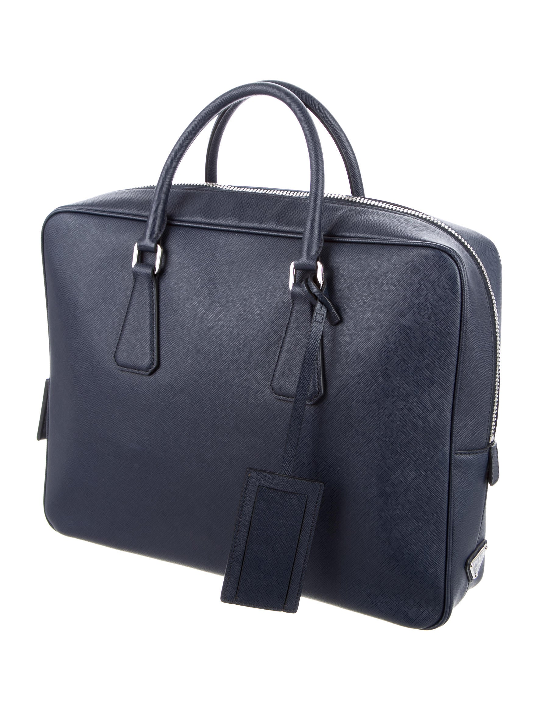 Prada Saffiano Leather Slim Briefcase w/ Tags - Bags ...